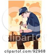 Royalty Free RF Clipart Illustration Of A Woodworker Man 2 by mayawizard101