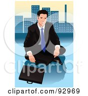 Royalty Free RF Clipart Illustration Of An Urban Business Man 19