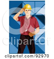 Royalty Free RF Clipart Illustration Of A Woodworker Man 3 by mayawizard101