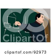 Royalty Free RF Clipart Illustration Of A Male Professor 3 by mayawizard101