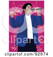 Royalty Free RF Clipart Illustration Of A Vocalist Man 6