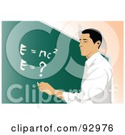 Royalty Free RF Clipart Illustration Of A Male Professor 1 by mayawizard101