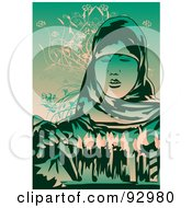 Royalty Free RF Clipart Illustration Of A Sasana Woman 2