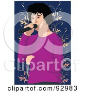 Royalty Free RF Clipart Illustration Of A Vocalist Man 5