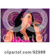 Royalty Free RF Clipart Illustration Of A Female Vocalist