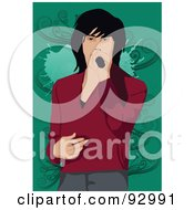 Royalty Free RF Clipart Illustration Of A Vocalist Man 4