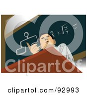 Royalty Free RF Clipart Illustration Of A Male Professor 2 by mayawizard101