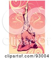 Royalty Free RF Clipart Illustration Of A Yoga Woman