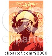 Royalty Free RF Clipart Illustration Of A Smoker 3