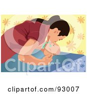 Royalty Free RF Clipart Illustration Of A Mom And Child 18