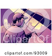 Royalty Free RF Clipart Illustration Of A Construction Worker Guy 6 by mayawizard101