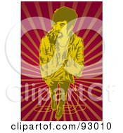 Royalty Free RF Clipart Illustration Of A Vocalist Man 1