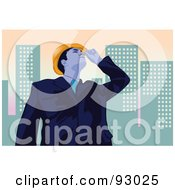Royalty Free RF Clipart Illustration Of An Engineer 3 by mayawizard101