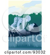 Royalty Free RF Clipart Illustration Of A Mom And Child 19