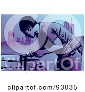 Royalty Free RF Clipart Illustration Of A Construction Worker Guy 12 by mayawizard101