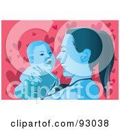 Royalty Free RF Clipart Illustration Of A Mom And Child 7