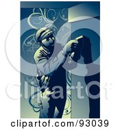 Royalty Free RF Clipart Illustration Of A Construction Worker Guy 8 by mayawizard101