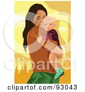 Royalty Free RF Clipart Illustration Of A Mom And Child 22