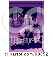 Royalty Free RF Clipart Illustration Of A Construction Worker Guy 9 by mayawizard101
