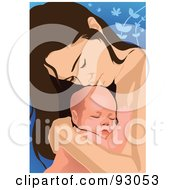 Royalty Free RF Clipart Illustration Of A Mom And Child 20