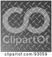 Royalty Free RF Clipart Illustration Of A Worn Dark Diamond Plate Background
