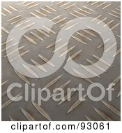 Royalty Free RF Clipart Illustration Of A Golden Light On A Diamond Plate Background