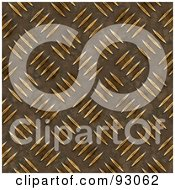 Royalty Free RF Clipart Illustration Of A Diamond Plate Pattern Background In Gold by Arena Creative