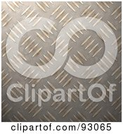 Royalty Free RF Clipart Illustration Of A Gold Diamond Plate Pattern Background