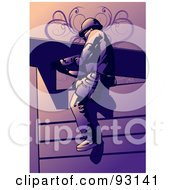 Royalty Free RF Clipart Illustration Of A Construction Worker Guy 2 by mayawizard101