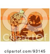 Royalty Free RF Clipart Illustration Of An Industrial Worker 2 by mayawizard101