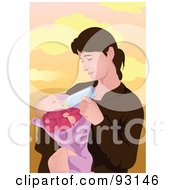 Royalty Free RF Clipart Illustration Of A Mom And Child 1