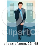 Royalty Free RF Clipart Illustration Of An Urban Business Man 13