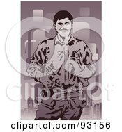 Royalty Free RF Clipart Illustration Of A Construction Worker 12 by mayawizard101