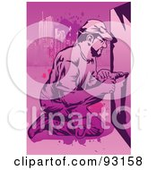 Royalty Free RF Clipart Illustration Of A Construction Worker 10 by mayawizard101