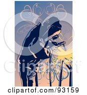 Royalty Free RF Clipart Illustration Of A Working Welder 4 by mayawizard101 #COLLC93159-0158