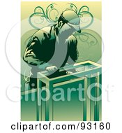 Royalty Free RF Clipart Illustration Of A Working Carpenter 4 by mayawizard101