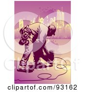 Royalty Free RF Clipart Illustration Of A Construction Worker 1 by mayawizard101