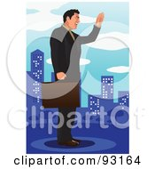 Royalty Free RF Clipart Illustration Of An Urban Business Man 11
