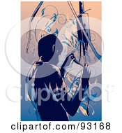 Royalty Free RF Clipart Illustration Of An Industrial Worker 4