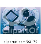 Royalty Free RF Clipart Illustration Of A Working Carpenter 5 by mayawizard101