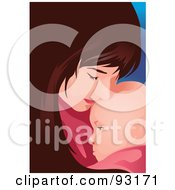 Royalty Free RF Clipart Illustration Of A Mom And Child 2