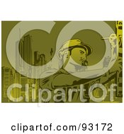 Royalty Free RF Clipart Illustration Of A Construction Worker 3 by mayawizard101