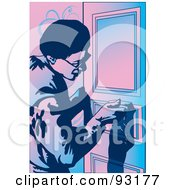 Royalty Free RF Clipart Illustration Of A Working Carpenter 2 by mayawizard101