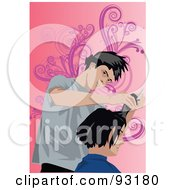 Royalty Free RF Clipart Illustration Of A Hair Dresser 7 by mayawizard101