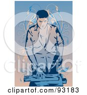 Royalty Free RF Clipart Illustration Of A Construction Worker 13 by mayawizard101