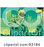 Royalty Free RF Clipart Illustration Of A Construction Worker 6 by mayawizard101