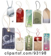 Fly On A Digital Collage Of Paper And Denim Sales Tags