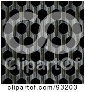 Royalty Free RF Clipart Illustration Of A Metal Mesh Grate Over Black 1