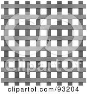 Royalty Free RF Clipart Illustration Of A Metal Mesh Grate Over White 1 by Arena Creative