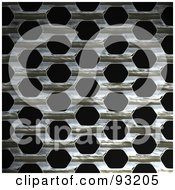 Royalty Free RF Clip Art Illustration Of A Metal Mesh Grate Over Black 2 by Arena Creative